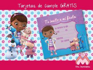Descarga gratis tarjetas de la doctora juguetes