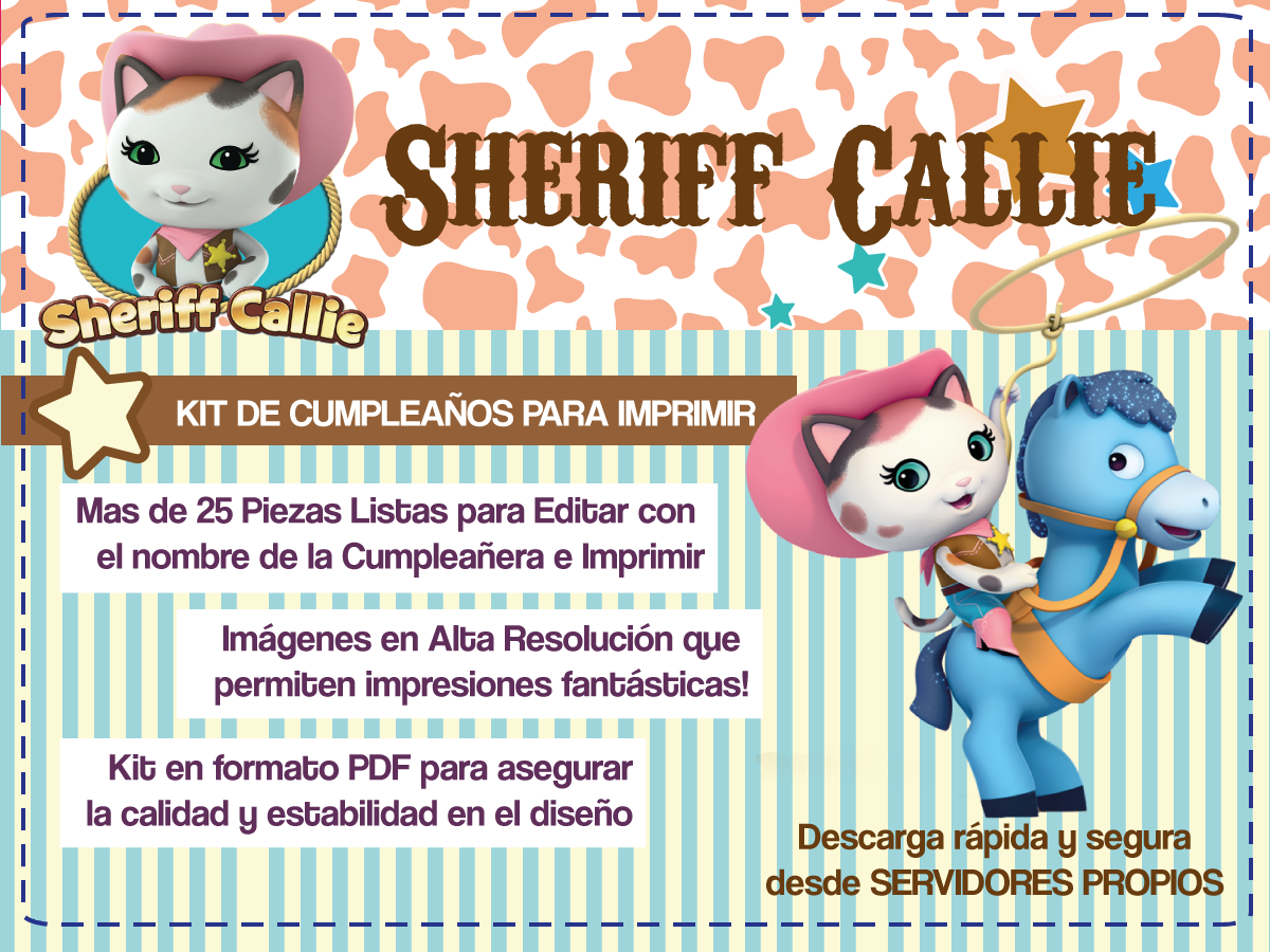 kit imprimible sheriff callie