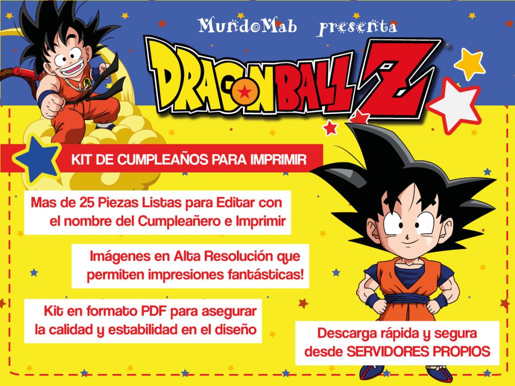 Dragon Ball: Kit gratis para imprimir