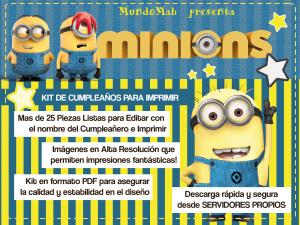 Kit de cumpleaños para imprimir - Minions