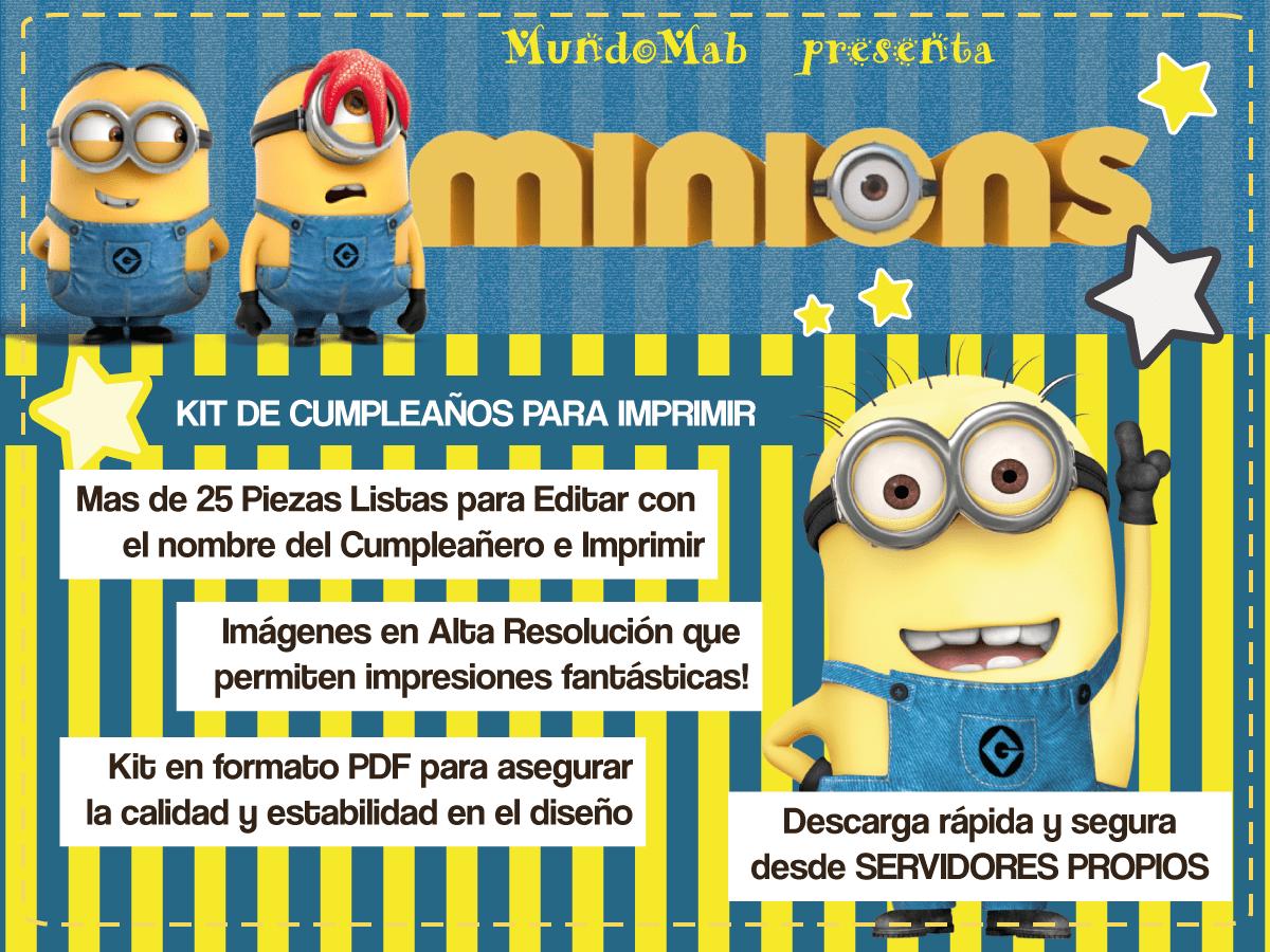 56 Dibujos De Minions Para Descargar Gratis Imprimir Y: Kit De Cumpleaños Para Imprimir De Los Minions