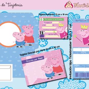 Tarjeta de cumpleaños Peppa Pig