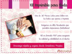 Invitacion de boda para imprimir