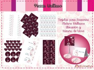 stickers de boda para imprimir