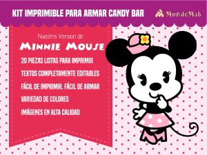 Minnie kit para armar candy bar