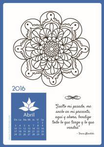 descargar calendario mandala de abril