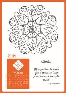 Calendario Mandala Marzo 2016