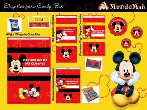 candy bar de mickey mouse para imprimir