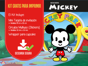 mickey mouse invitaciones para descargar