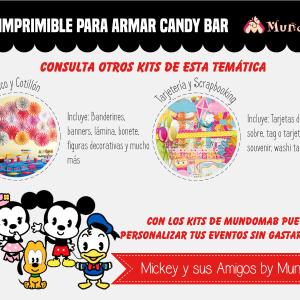 etiquetas candy bar de mickey