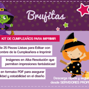 Kit de Brujitas para cumpleaños
