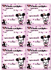 Invitaciones Minnie para imprimir gratis