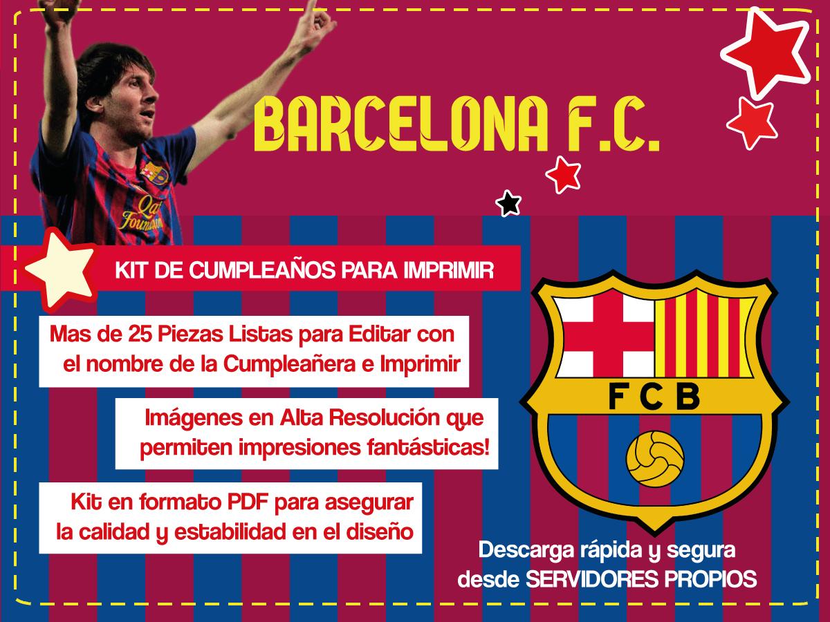 kit imprimible barcelona futbol club