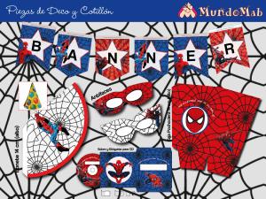 banner de cumpleaños spiderman