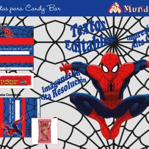 candy bar de spiderman