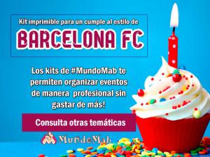 barcelona kit de cumpleaños para imprimir