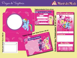 mi pequeño pony invitaciones para imprimir