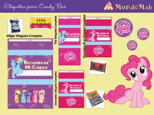 etiquetas candy bar mi pequeño pony