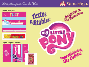 candy bar para imprimir mi pequeño pony