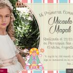 fototarjeta de primera comunion para nena