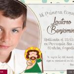 comunion tarjeta personalizada con foto