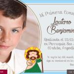 Diseño de tarjeta para comunion Nene
