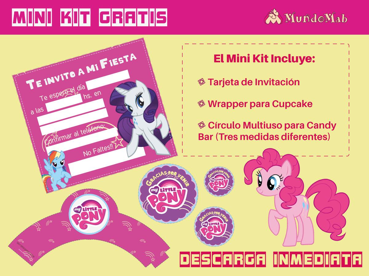 mi pequeño pony invitaciones gratis para descargar