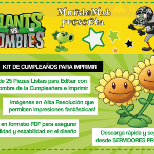 plantas vs zombies kit imprimible by mundomab