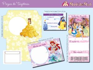 tarjetas de cumpleaños de princesas