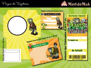 plantas vs zombies invitaciones para imprimir