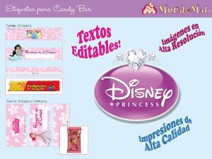 candy bar para imprimir de princesas