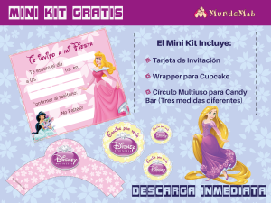 princesas invitaciones gratis para imprimir