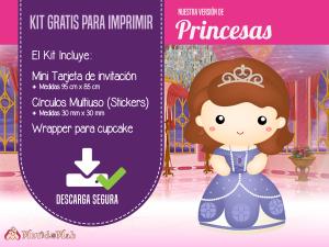 kit imprimible para descargar princesas