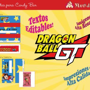 dragon ball candy bar para imprimir