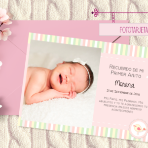 fototarjeta imprimible para nena