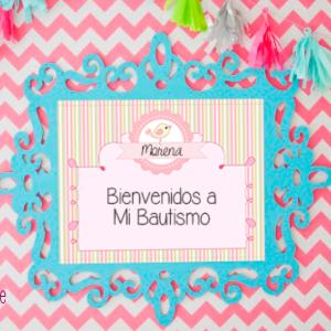 cartel imprimible para eventos de niña