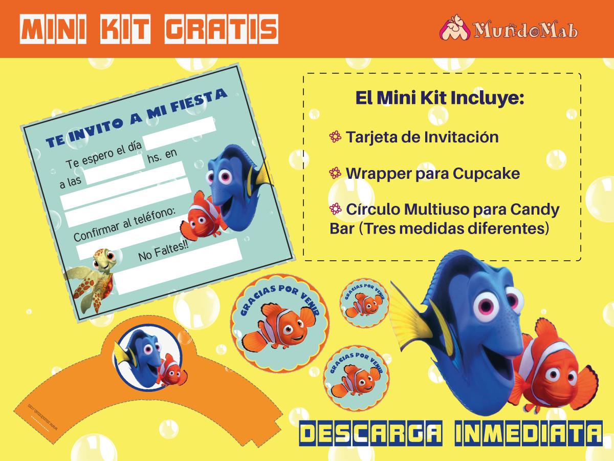 Nemo y Dory: Tarjetas de Cumple para imprimir - Mundo Mab | Kits de ...