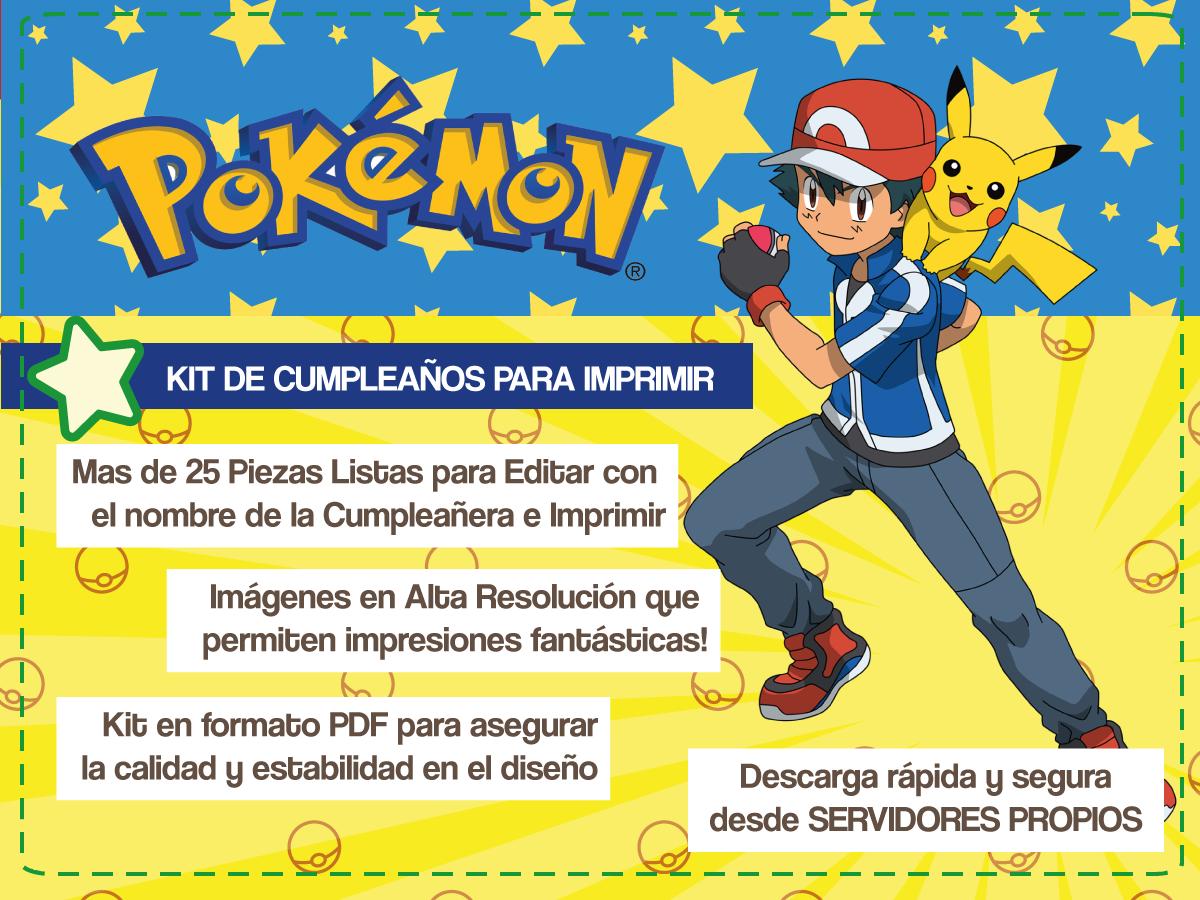 Pokemon: Invitaciones gratis para descargar e imprimir - Mundo Mab ...