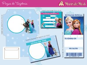 frozen tarjetas para imprimir