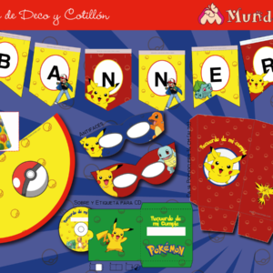 banner de cumpleaños para imprimir de pokemon