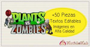 etiquetas para cuadernos plantas vs zombies