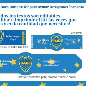 Boca Juniors imprimible para desayuno
