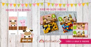 kit para cumpleaños tematica la granja