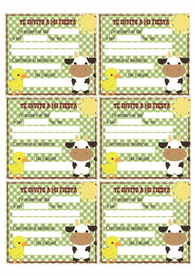 tarjetas de invitacion la granja gratis
