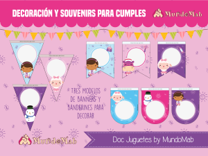 banner para cumpleaños de la doctora juguetes