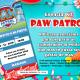 Tarjeta de invitacion Paw Patrol